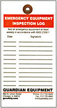 Emergency Equipment Inspection Tags, 20 pk