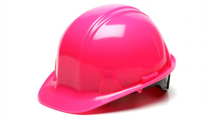 Pyramex Hi Vis Pink SL Series Cap Style Hard Hat, 4 Point Ratchet