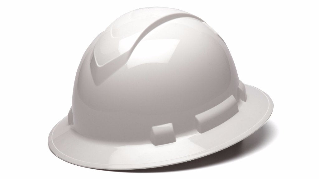 Ridgeline Full Brim Hard Hat, White
