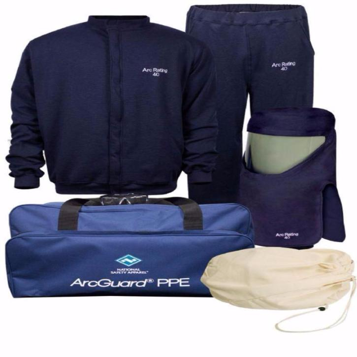 b4d62aae081e Nation Safety Apparel Arc Flash Kit W Vented Hood Level 4 40 Cal No Gloves
