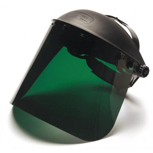 Polyethylene Face Shield Dark Green
