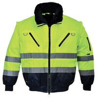 UPJ50- Portwest Hi Vis 3 in 1 Pilot Jacket- Yellow/Navy