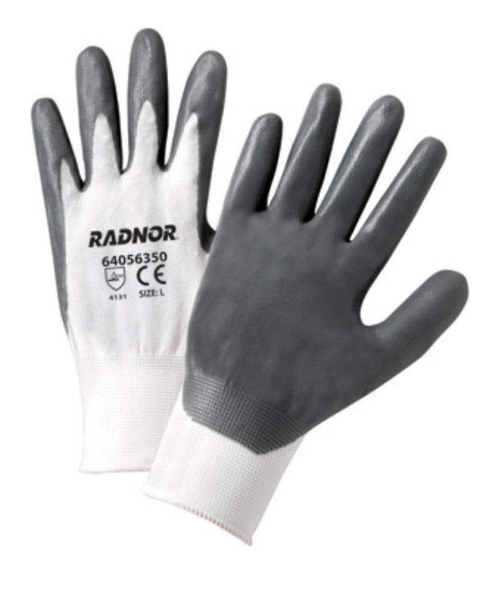 Nitrile Palm Coated Glove, White Liner