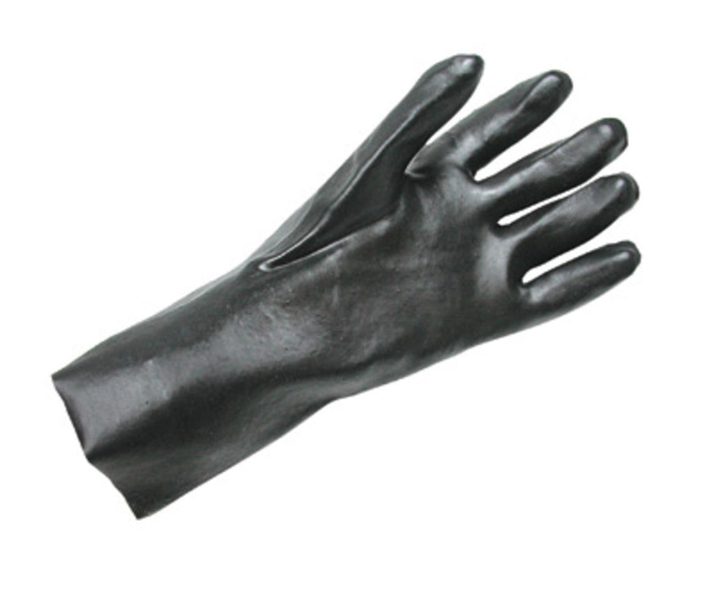 "Pvc Fully Coated 12""Economy Black Glove (Large only)"
