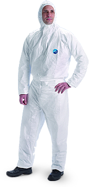 Tyvek Coverall with Hood and Zipper- 25/case
