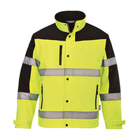 Class 3 Two Tone Softshell Jacket, Lime, US429