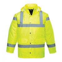 Portwest Hi-Vis Traffic WaterProof Quilt Lined Jacket Lime