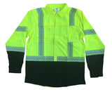 Cordova Class 3 Foreman Work Shirt W/UPF LIme/Black