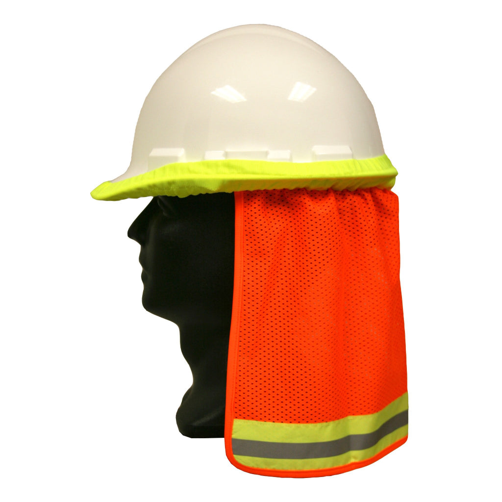 Cordova Neck Shades  Fits Full/Standard Brim Hard Hats Orange Mesh
