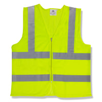 Cordova Class 2 Mesh Vest Lime Zipper Closure