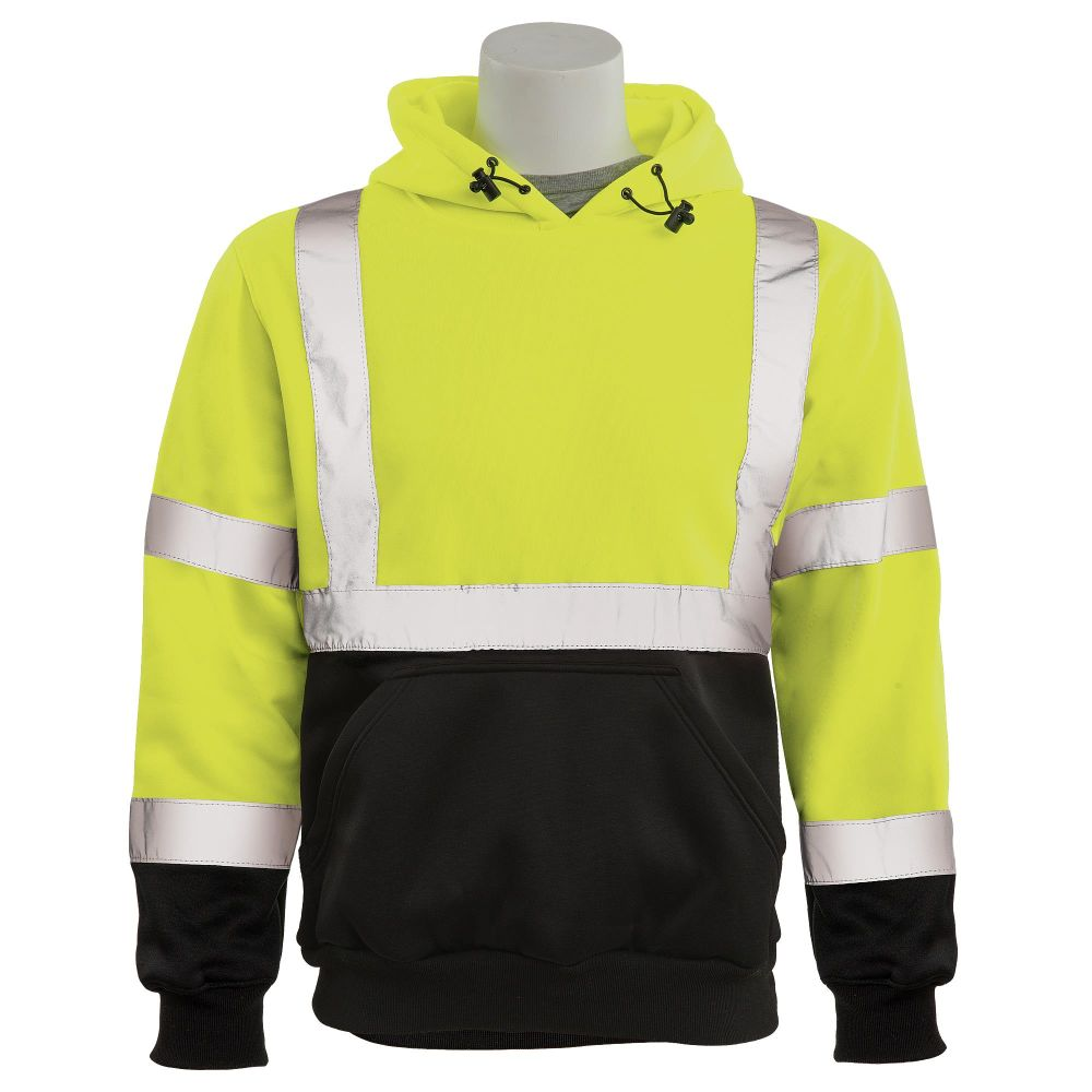 ERB Class 3 Hooded Sweatshirt Lime Black Front