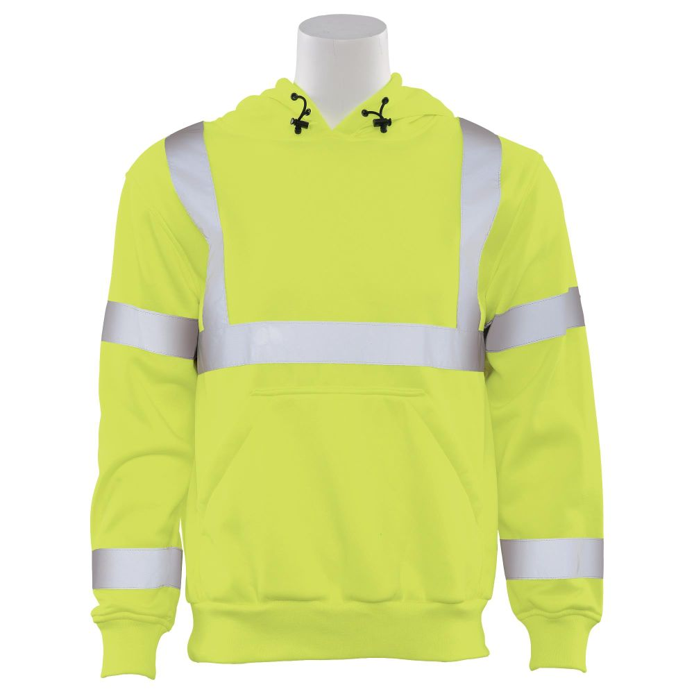 ERB Class 3 Hooded Pullover Sweatshirt Lime W376