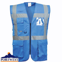 Portwest Iona Executive Vest Non-Rated Royal Blue