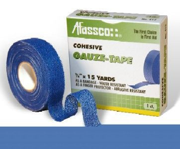 "Afassco Cohesive Gauze Tape 3/4"" x 15 yds, 1 roll"