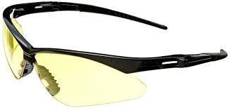 Nemesis Black Frame/Amber Lens Anti-Fog Safety Glasses