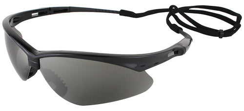 Nemesis Black Frame/Smoke Mirror Lens Safety Glasses- Pair