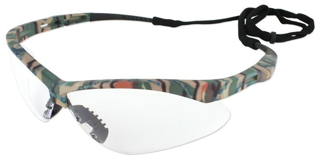 Kimberly Clark Nemesis  Camo Frame Clear Anti-Fog Glasses 22608