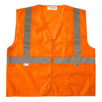 Xtreme Visibility Class 2 Orange With Zipper Closure