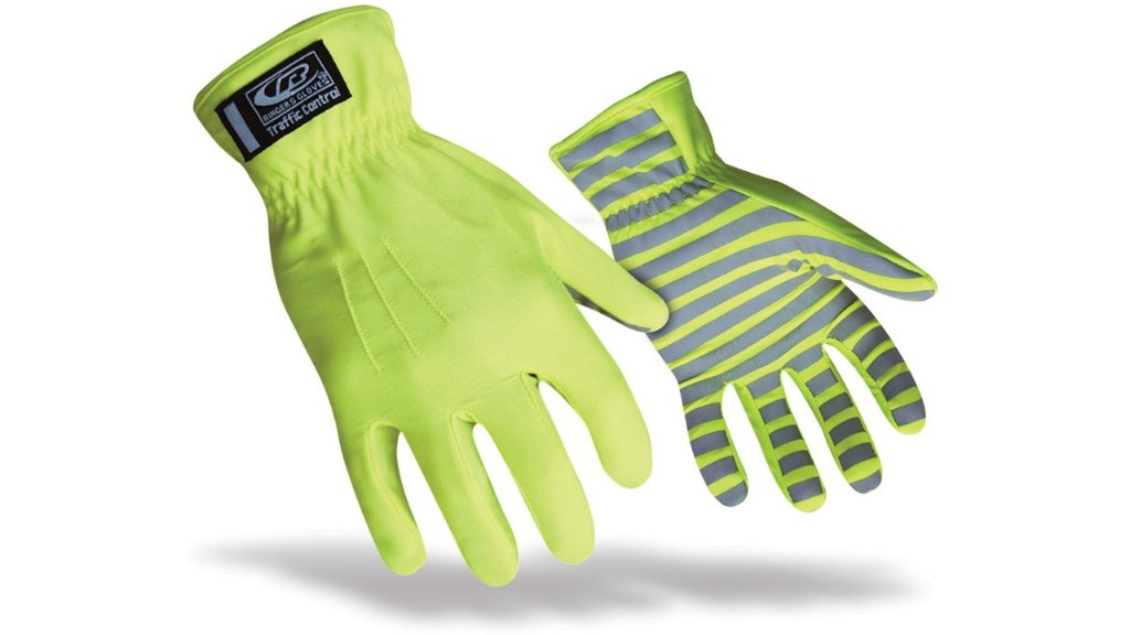 Ringers Glove Traffic Control Hi-Vis Lime  (Sold by Dozen)