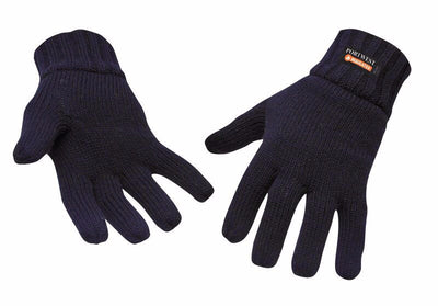 Portwest Knit Glove Thinsulate Lined-Black