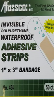 Afassco Invisable Polyurethane Waterproof Bandage 1''x3''