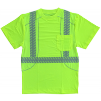 Cordova Class 2 Comfort Stretch Short Sleeve Shirt - Lime
