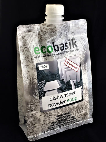 ecobasik - diswasher powder soap - SAFE cleaning for the home!