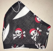 Skull & cross bones small print