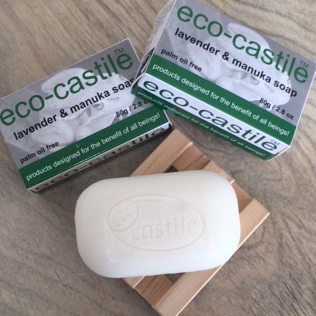 eco-castile - lavender & manuka bar soap NZ made