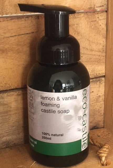 eco-castile - lemon & vanilla foaming castile soap - NZ Made