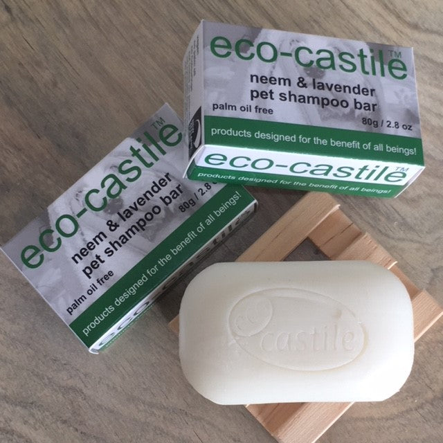 eco-castile - neem & lavender pet shampoo bar soap - NZ Made
