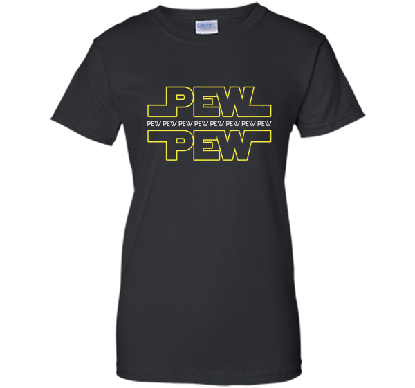 Pew pew T-shirts, Funny star