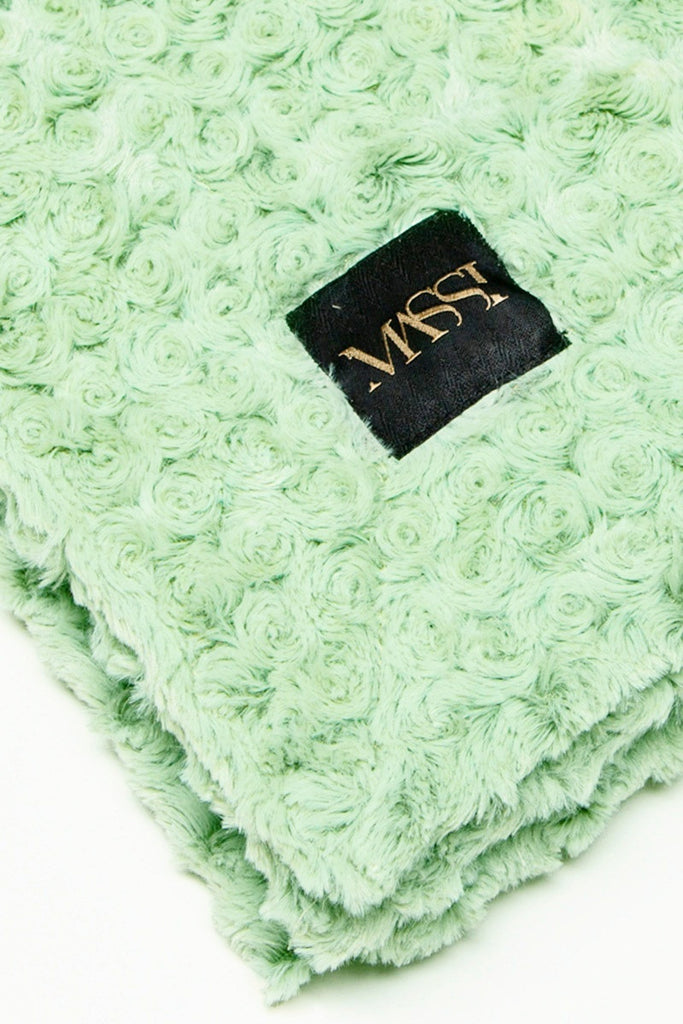 Rosette Blanket in Mint
