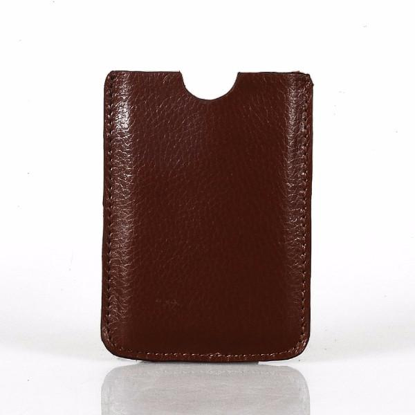 Leather Tablet Sleeve + Purse Pouch Set - Brown