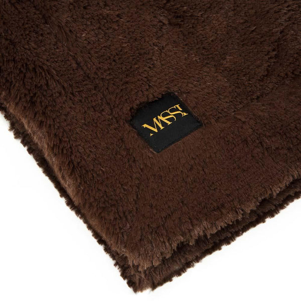 Faux Fur Blanket in Cocoa