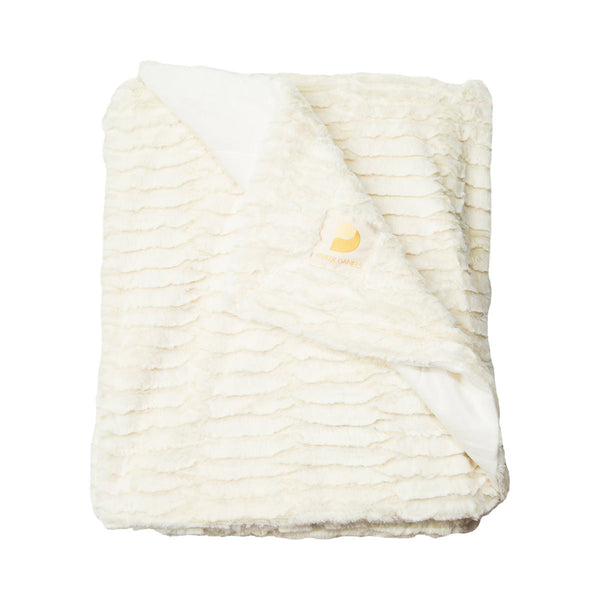 Plush Throw Blanket (Latte Foam)