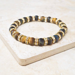Dark Blue Tiger's Eye Gemstone Bracelet