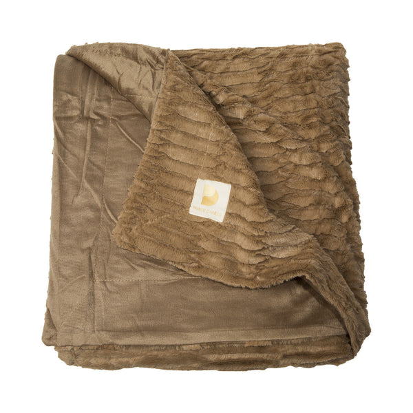 Plush Throw Blanket (Cappuccino)