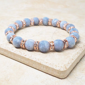 Gray Jade Gemstone Bracelet