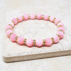 Cotton Candy Jade Gemstone Bracelet