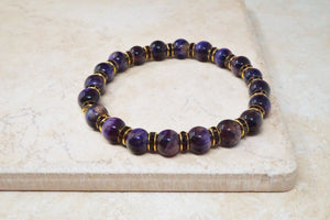 Purple Tiger's Eye Gemstone Bracelet