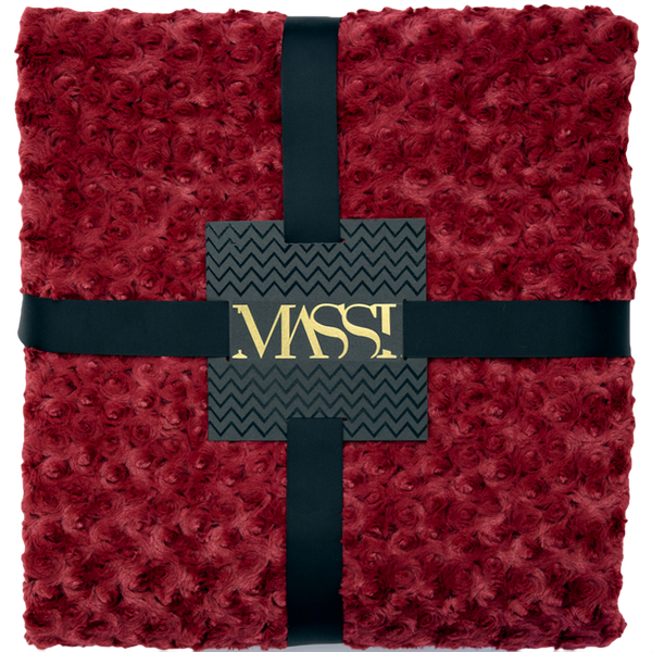 Rosette Blanket in Ruby
