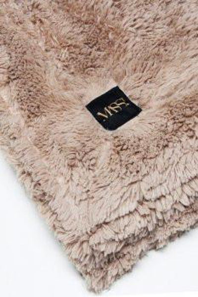 Faux Fur Blanket in Sahara