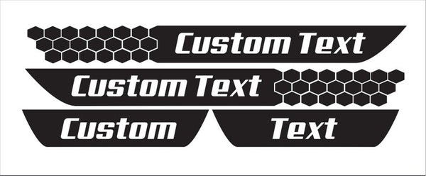 Dodge Dart Honeycomb Style Door Sill Decals (Custom Text)