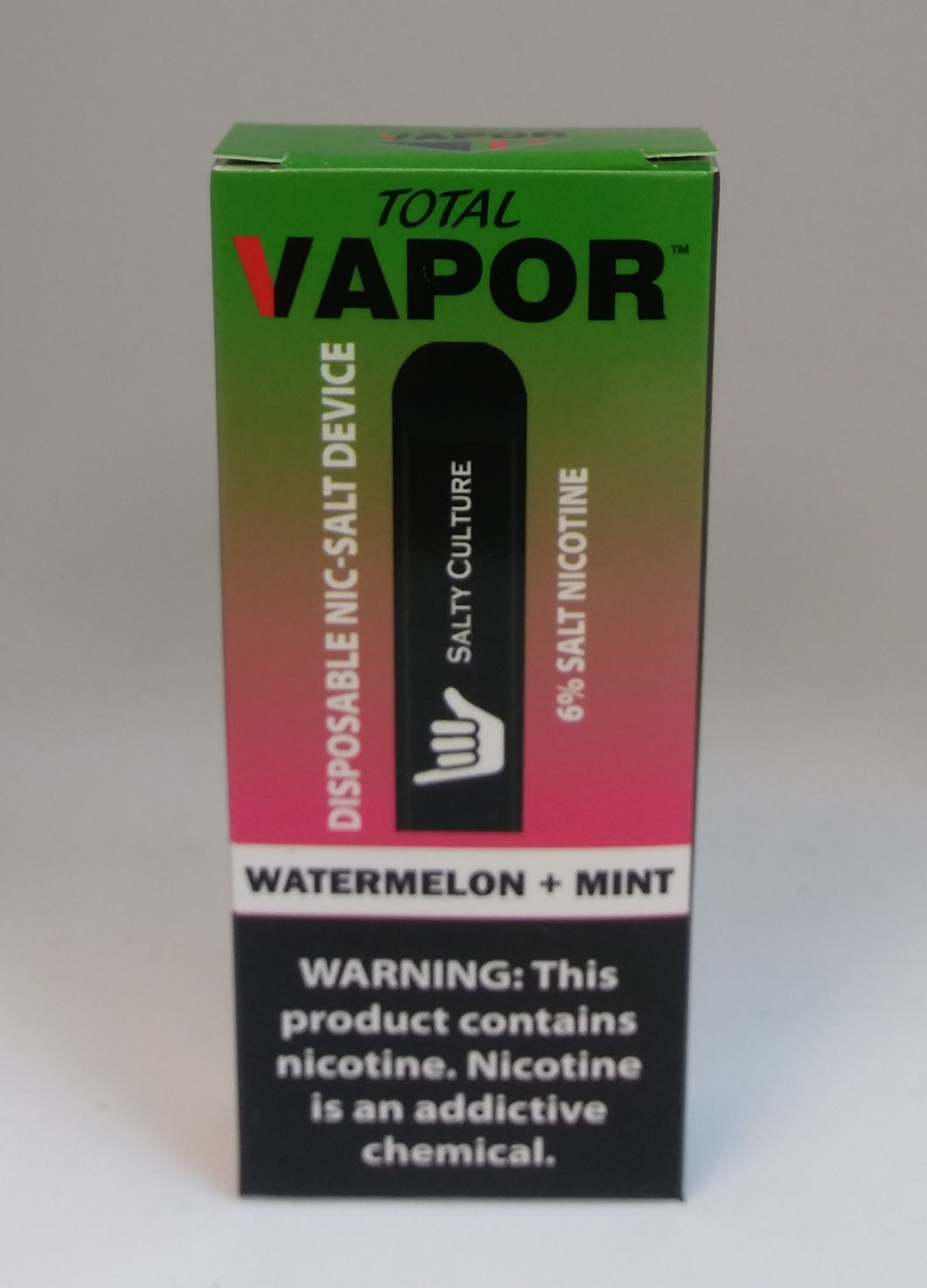 Total vapor - Disposable 6% salt nic device - watermelon+mint