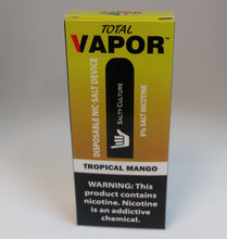 Total vapor-DISPOSABLE salt nic device- Tropical mango