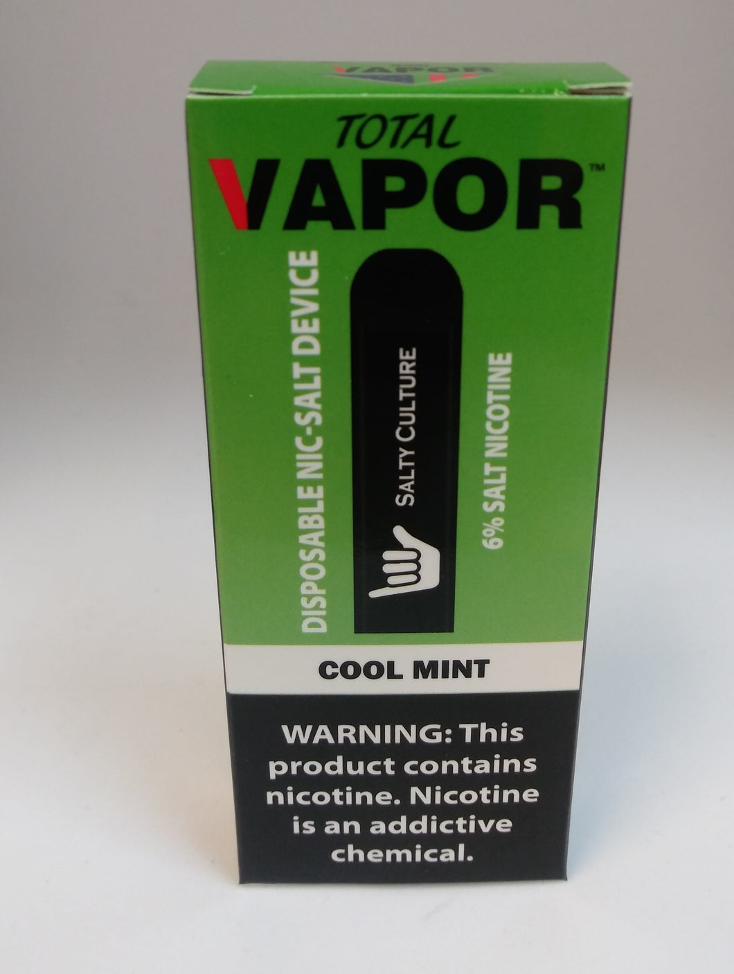 Total vapor-DISPOSABLE salt nic device-Cool mint