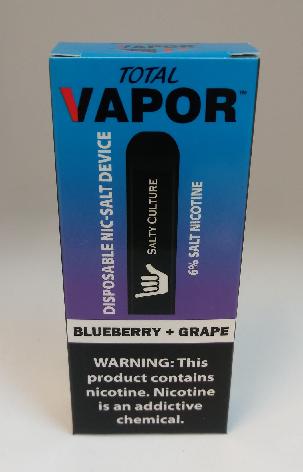 Total vapor-DISPOSABLE salt nic device-Blueberry+Grape