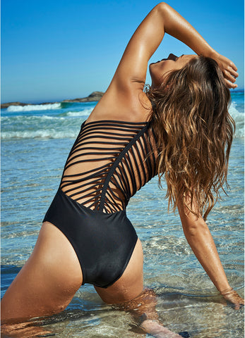 High Neck Cutout One Piece