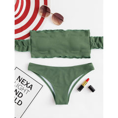 Off The Shoulder Bikini Set